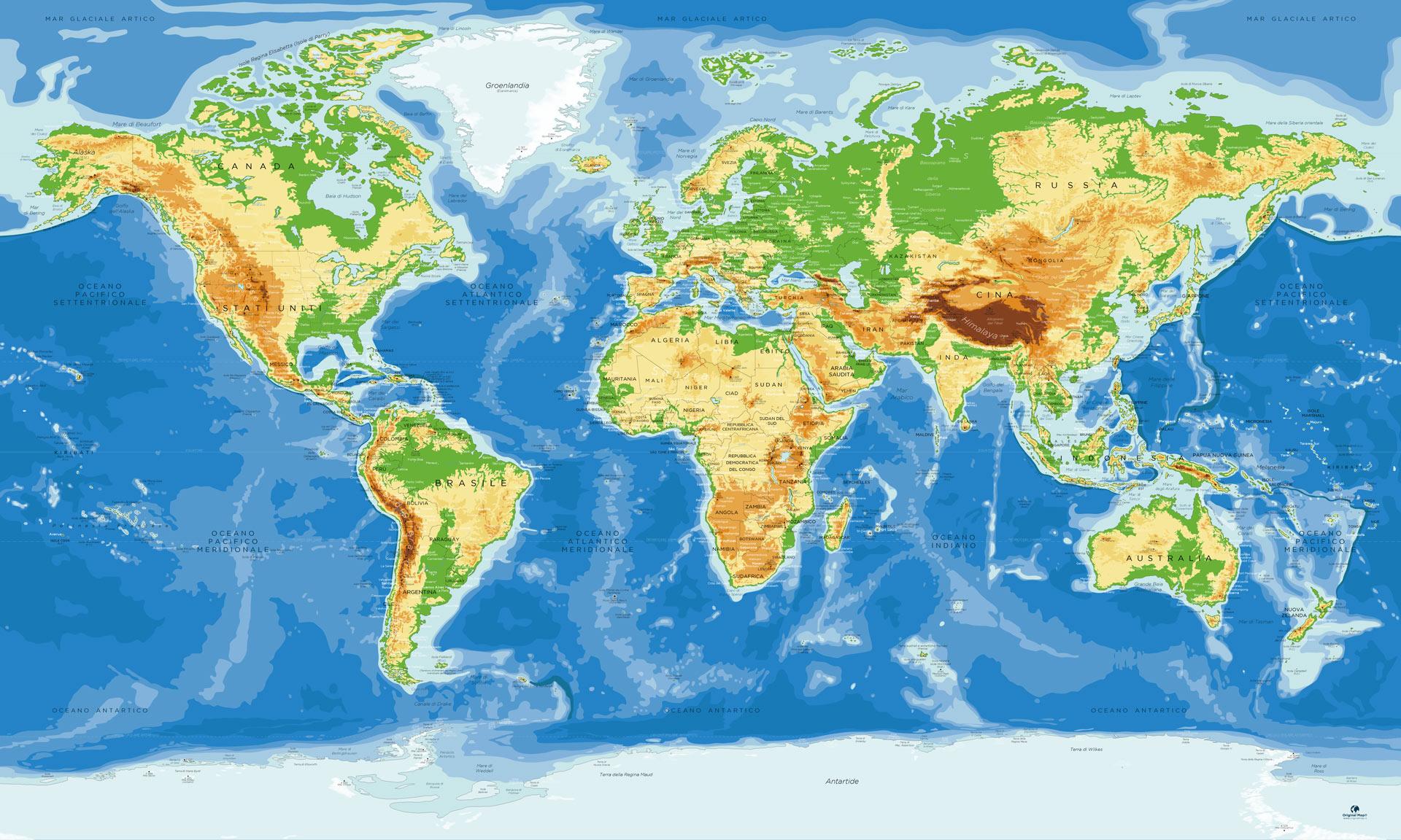 Cartina Mondo Immagini.Mappa Del Mondo Completa Scolastica Mappa Con L Antartide
