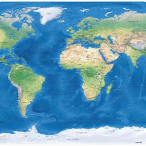 Mappa del Mondo Proiezione Winkel-Tripel