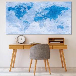 Mappa del Mondo effetto Acquarello – Uyuni