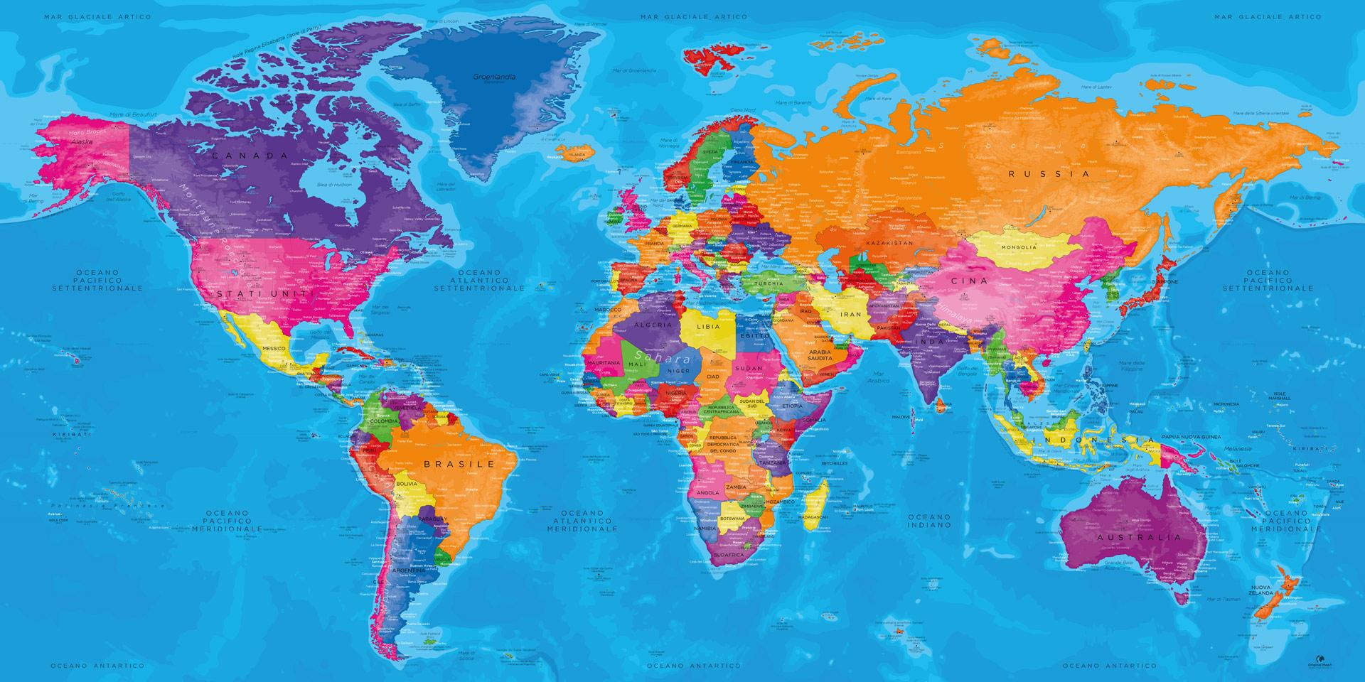 Cartina Mondo Immagini.Mappamondo Su Tavola Mappa Del Mondo Mappa Mondiale