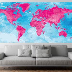 Poster Mappa del Mondo – Darvaza