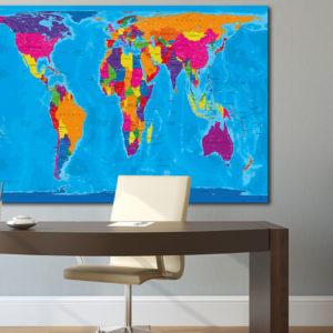 Mappa del mondo Gall-Peters – Manarola