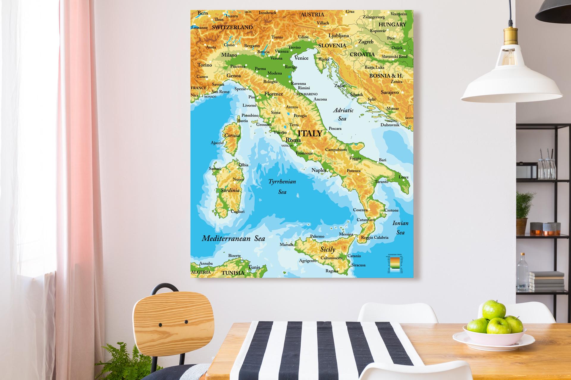 Cartina Italiana Dettagliata.Mappa D Italia Dettagliata Cartina Italiana Scegli Tra 13 Modelli