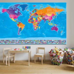 Mappa del Mondo Completa di Bandiere – Manarola