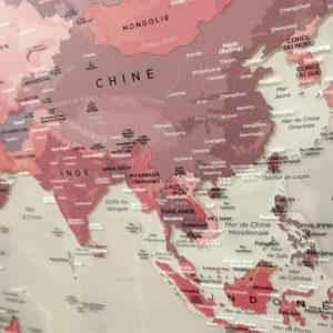 Mappa del mondo su Plexiglas fronte-retro 1/2