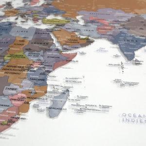 Mappamondo su Plexiglas trasparente